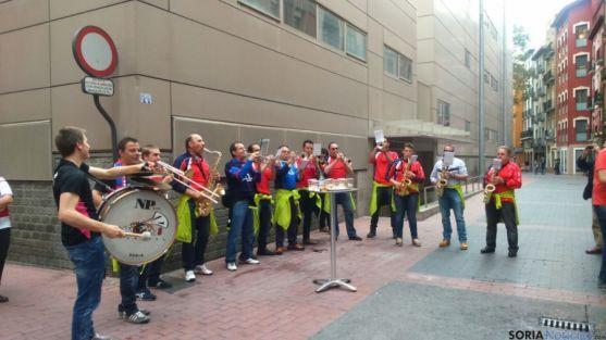 Charanga en las calles de Zaragoza