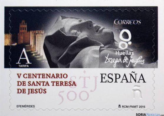 Sello de Correos sobre Santa Teresa
