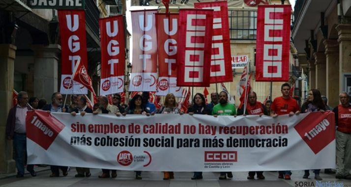 Manifestación del 1 de mayo en 2014. / SN