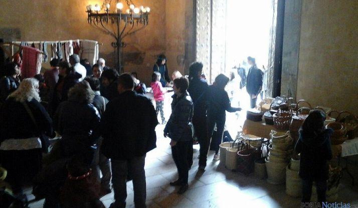 El palacio de los Castejones, esta  mañana.