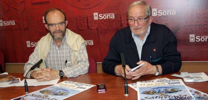 Martínez (izda. ) y Bárez, este martes. / Ayto.