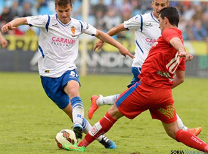 Uno de los lances del partido. / Real Zaragoza
