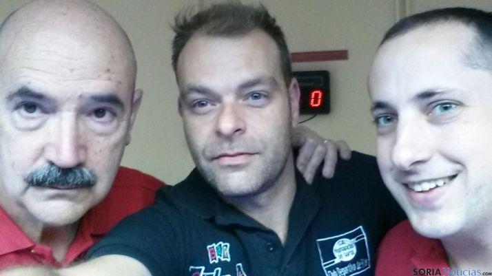 Tres jugadores del billar soriano