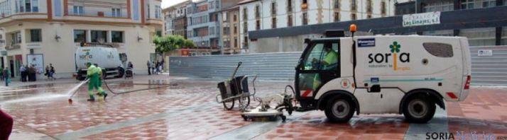 Limpieza viaria en Soria