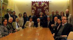 Miembros de la junta directiva de la AIH, este sábado. / SN