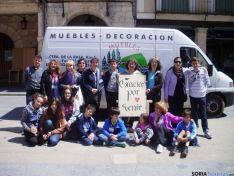 Mercado solidario en El Burgo.