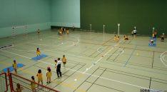 Los niños, en el polideportivo burgense.