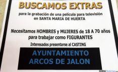 El anuncio del casting en Arcos de Jalón. / SN