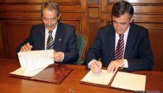 José Luis Molina (izda.) y Antonio Pardo este viernes.