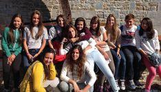 El grupo de Escolapias en Bélgica.