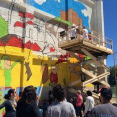 El mural esta mañana