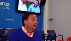 El candidato popular al Ayuntamiento Adolfo Sainz este viernes. / SN