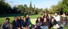 Sainz, junto a los jóvenes populares.