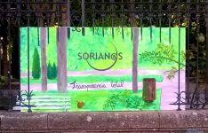 El cartel de la agrupación en La Dehesa.
