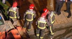 Un grupo de bomberos en una actuación en la capital. / SN
