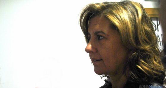 La viceconsejera, Begoña Hernández, este jueves en El Hueco. / SN