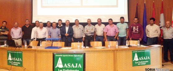 La nueva junta directiva de ASAJA Soria. / AS