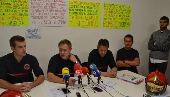 Bomberos de Soria en rueda de prensa