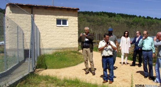 La delegación cubana en las instalaciones de Lubia. / Subdeleg.