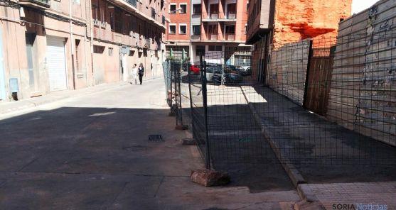 La alineación en la calle San Martín de Finojosa. / Ayto.