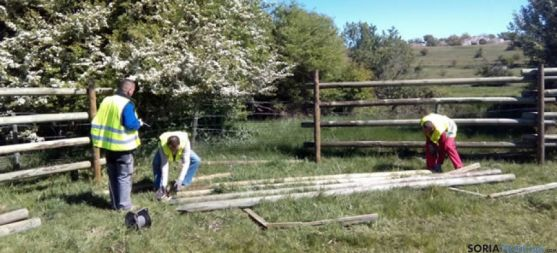 Trabajos de instalación del vallado