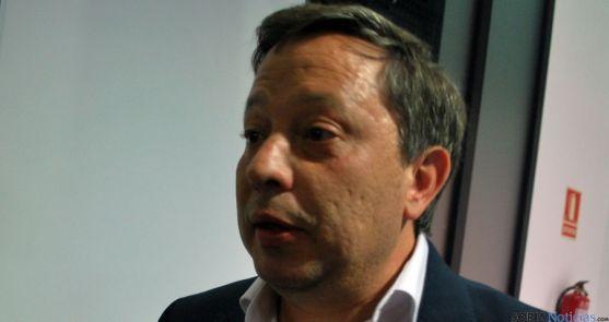 Adolfo Sainz, este domingo en la sede del PP. / SN