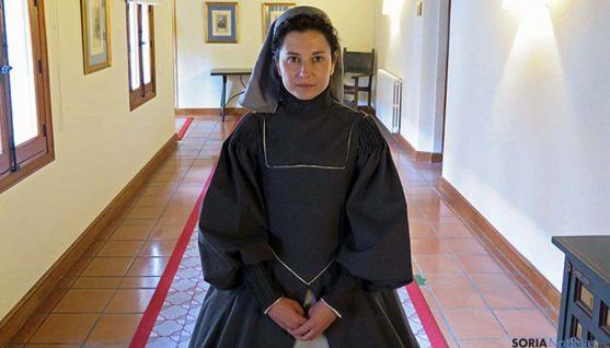 La actriz, caracterizada en su papel de la santa de Ávila.