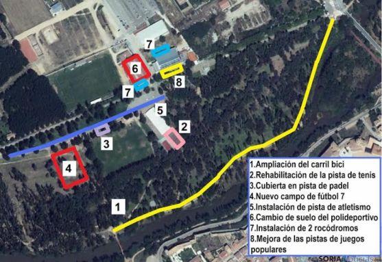 Diseño de los espacios de La Arboleda.