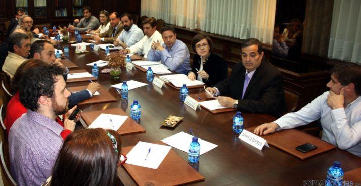 Reunión de la Cámara con el PP.
