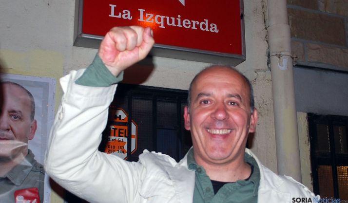 Enrique García, este domingo en la sede de IU. / SN