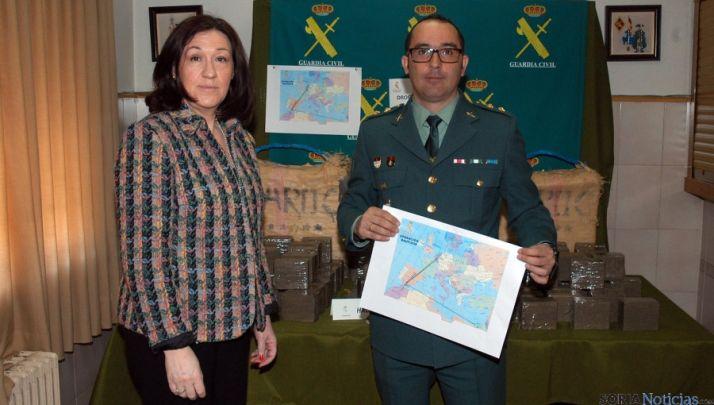 La subdelegada María José Heredia y jefe de la Comandancia Andrés Manuel Velarde