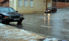 Imagen de la tormenta de este martes en Soria. / SN