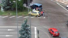Accidente en la estación de autobuses