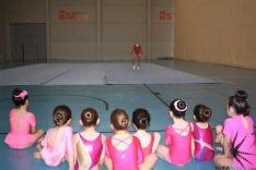 Las gimnastas en la exhibición