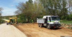 Las obras en la carretera de Torlengua.