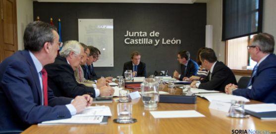Reunión del consejero con los delegados territoriales
