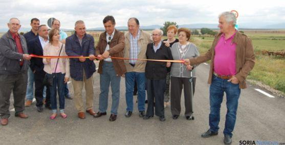 Inauguración en la carretera a Torrubia