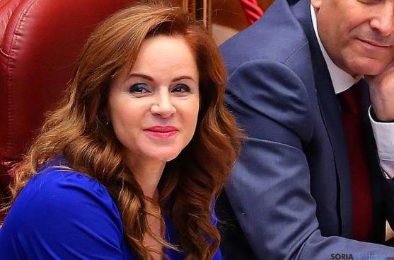 Silvia Clemente, este martes en la sede parlamentaria regional. / PP Facebook
