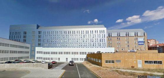 Vista del hospital Santa Bárbara, en Soria. / SN