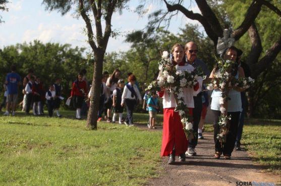 Procesión en honor a la Venerable en Nuevo Méjico. / Standard Times