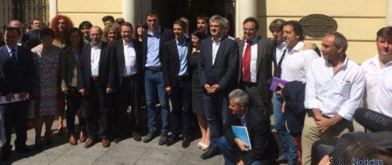 Alcaldes del PSOE en Alcalá.