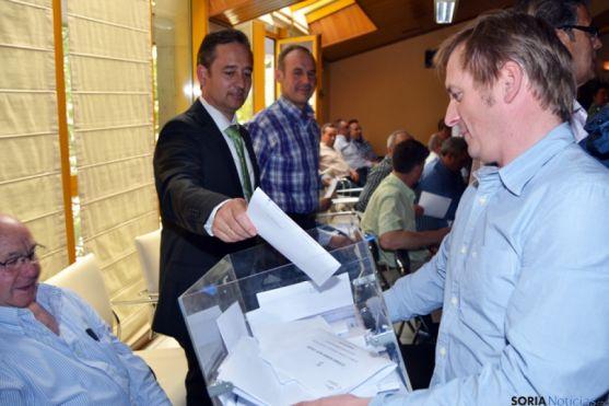 Javier Blanco, en la votación