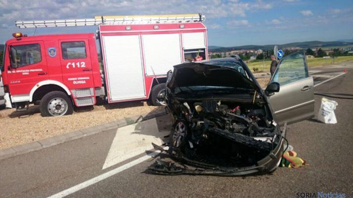 Accidente en Ólvega