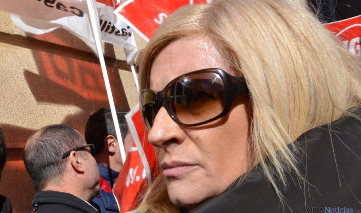 María José López, secretaria de UGT Soria. / SN