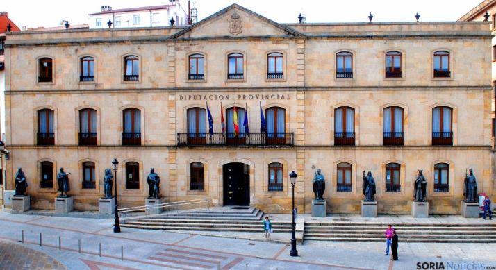 Fachada del Palacio Provincial, sede de la Diputación de Soria. / SN
