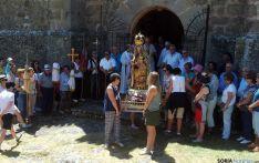 La imagen, en la entrada de la ermita./SN
