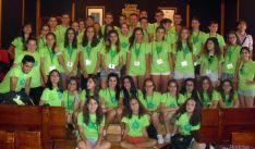 Los alumnos, en el consistorio burgense.