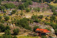 Imagen aérea de Valonsadero, con el hotel del mismo nombre.