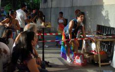 Imagen del ambiente vivido esta tarde de sábado en la plaza del Olivo. / SN