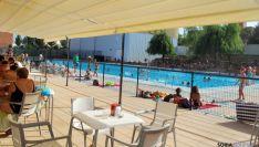 La piscina del San Andrés, este viernes. / SN